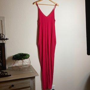 Lovestitch women's pinkish red maxi dress
